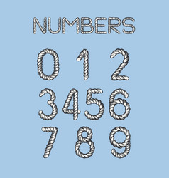 nautical rope numbers vector image
