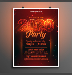 new year party celebration cover flyer template vector image