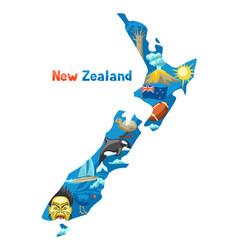new zealand map vector image