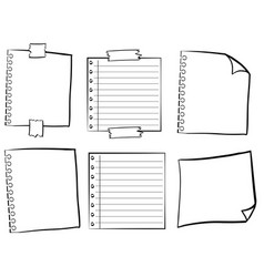 Paper templates in different designs vector