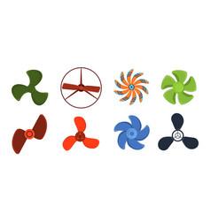 propeller fan wind ventilator equipment air vector image
