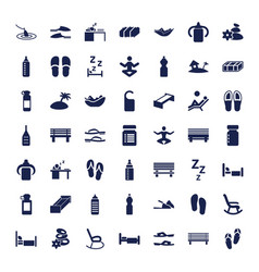 Relax icons vector