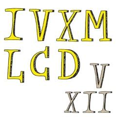 Roman numerals - doodles vector