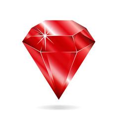 ruby gemstone vector image