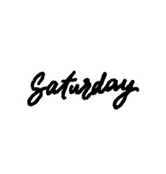 Saturday handwriting ink vector
