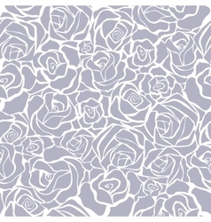 seamless retro background with grey roses vector image