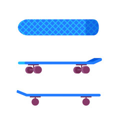 skateboard of blue color vector image