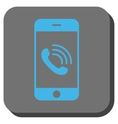Smartphone Call Rounded Square Button vector