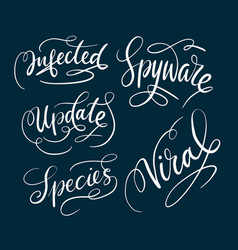 Spyware and viral typography vector
