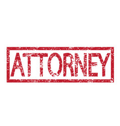 Stamp text attorney vector