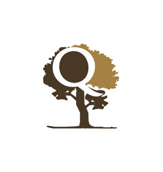 tree letter q vector image