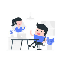 video conference concept vector image
