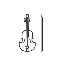 violin line icon concept violin linear vector image