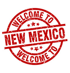 Welcome to new mexico red stamp vector