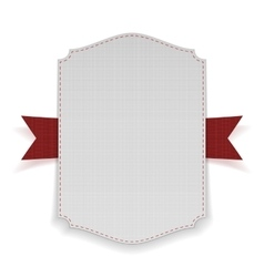 White Banner on red Ribbon vector