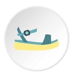 Woman sandal icon flat style vector