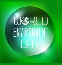 world environment day water drop as a background vector image