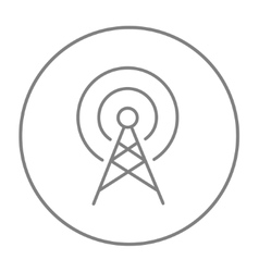 Antenna line icon vector image
