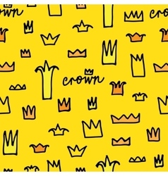 Crowns patterns background vector image