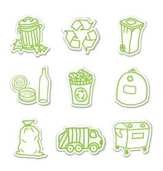 Garbage icon stickers vector image vector image