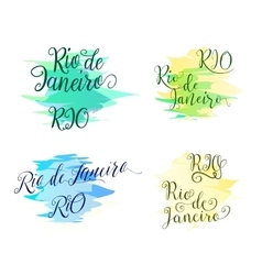 Hand drawn lettering elements design for brazilian vector image vector image