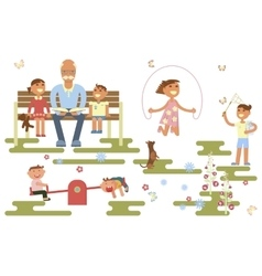 Happy childhood concept vector image