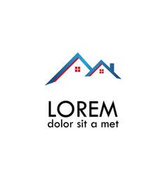 home property logo vector image