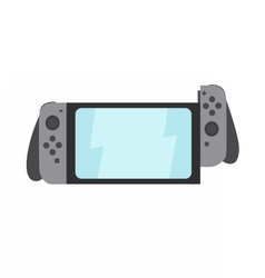 Portable gaming system witch switching parts vector image