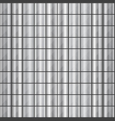 seamless square shaped steel studded pattern vector image vector image