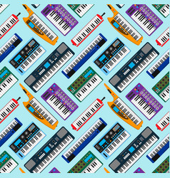 synthesizer piano musical keyboard equipment vector image
