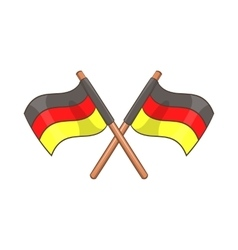 Two crossed flags of Germany icon cartoon style vector image vector image