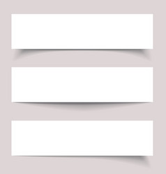 Banners with shadows vector image vector image