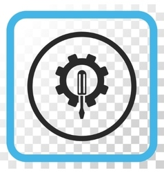 Engineering Icon In a Frame vector image