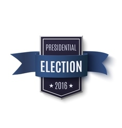 Presidential election 2016 poster template vector image vector image