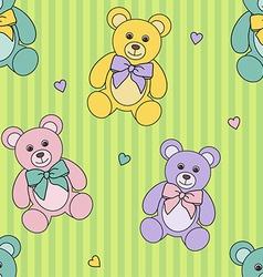 teddy bears pattern vector image vector image
