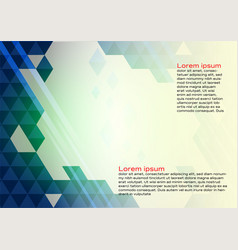 abstract geometric blue color background with vector image