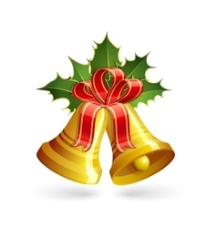 Christmas golden bells vector image