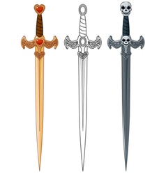 Three Swords vector image