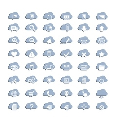 White cloud icons vector image vector image