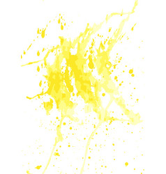yellow watercolor stains vector image