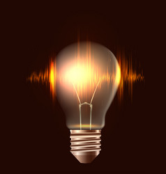 a realistic bulb with pulse element for vector image vector image