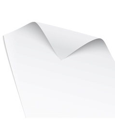 Paper with twisted corner vector image vector image