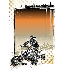 quad bike poster vector image