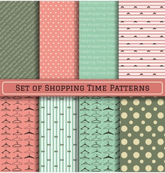 Set of Shopping Time Patterns vector image