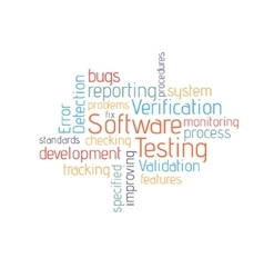 Software testing cloud vector image