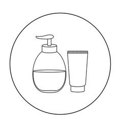tube with gel icon outline single tattoo icon vector image vector image