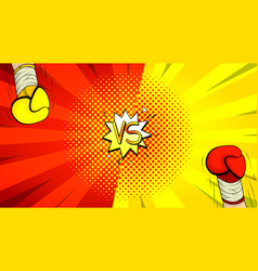 Versus letters fight background vector