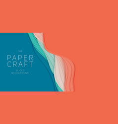 3d abstract background with paper cut shape vector