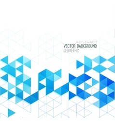 Abstract color triangles poster vector