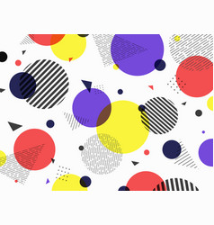 abstract pattern geometric simple colorful shape vector image